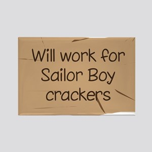 Will work for Sailor Boy crac Rectangle Magnet