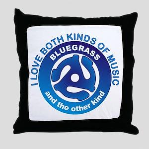LOVE BLUEGRASS MUSIC Throw Pillow