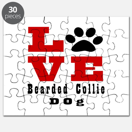 Love Bearded Collie Dog Designs Puzzle