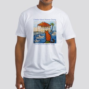 Cat at Casino Fitted T-Shirt