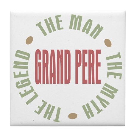 Grand Pere French Granddad Tile Coaster