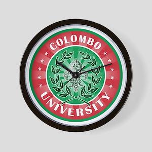 Colombo Italian Name University Wall Clock