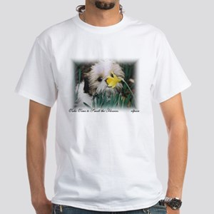 Shih Tzu puppy Smells Flowers Tshirt elpace