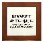 Straight White Male Framed Tile