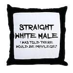 Straight White Male Throw Pillow