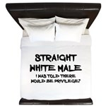Straight White Male King Duvet