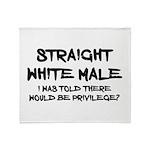 Straight White Male Throw Blanket