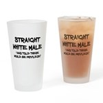 Straight White Male Drinking Glass