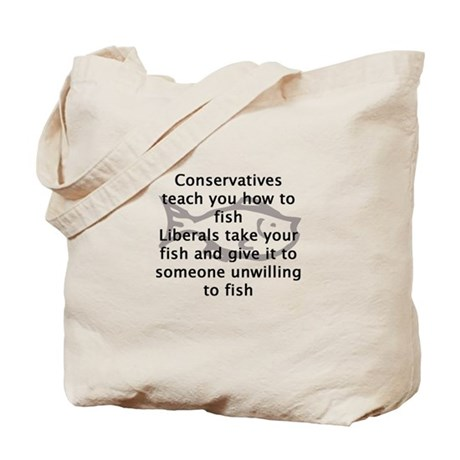 Conservatives teach you how t Tote Bag