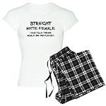 Straight White Female Pajamas