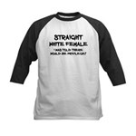 Straight White Female Baseball Jersey