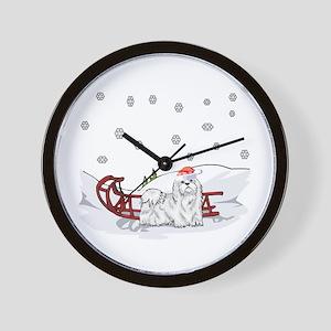 Sledding Maltese Wall Clock