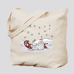 Sledding Maltese Tote Bag