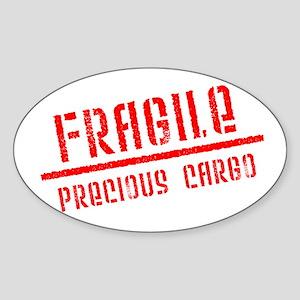 Fragile/Precious Cargo Oval Sticker