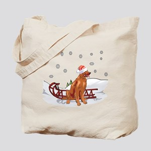 Sledding Irish Setter Tote Bag