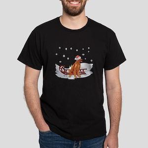 Sledding Irish Setter Dark T-Shirt