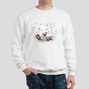 Sledding German Shepard Sweatshirt
