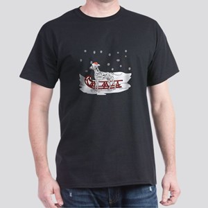 Sledding Dalmatian Dark T-Shirt