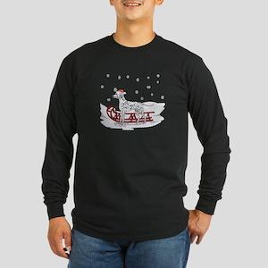 Sledding Dalmatian Long Sleeve Dark T-Shirt