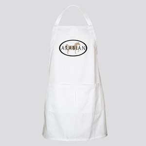 Arabian Horse Text & Oval (tan) BBQ Apron