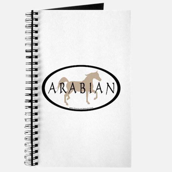 Arabian Horse Text & Oval (tan) Journal