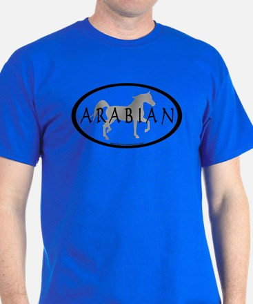 Arabian Horse Text & Oval (grey) T-Shirt