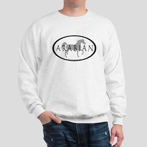 Arabian Horse Text & Oval (grey) Sweatshirt