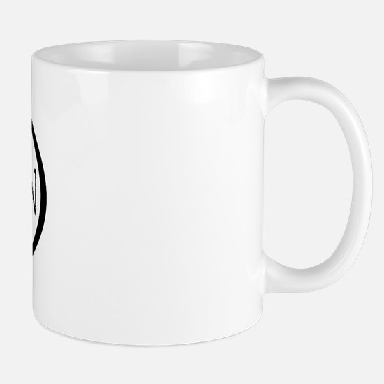 Arabian Horse Text & Oval (grey) Mug