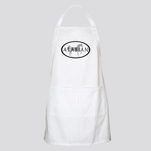 Arabian Horse Text & Oval (grey) BBQ Apron