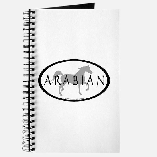 Arabian Horse Text & Oval (grey) Journal