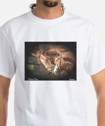 Rescue Horse, Yearlings,White T-Shirt, elpace