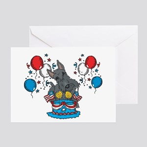 4th of July Scottie Greeting Card