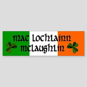 McLaughlin in Irish & English Bumper Sticker