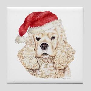 Christmas American Cocker Spaniel Tile Coaster
