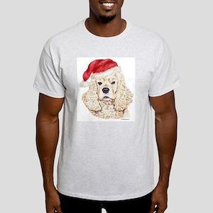 Christmas American Cocker Spaniel Light T-Shirt