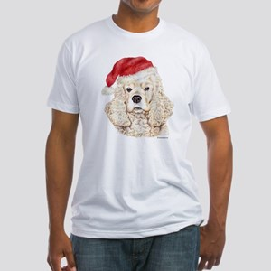 Christmas American Cocker Spaniel Fitted T-Shirt
