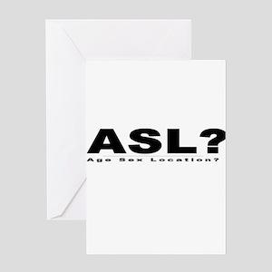 ASL? Greeting Card