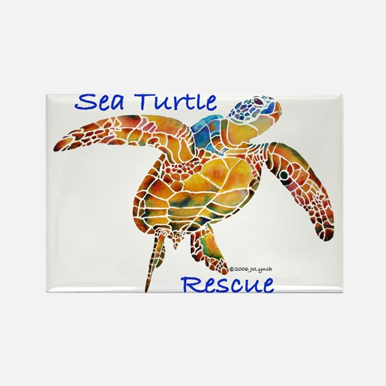 Sea Turtles Rectangle Magnet