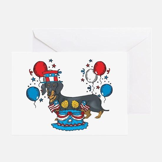 4th of July Dachshund Greeting Card