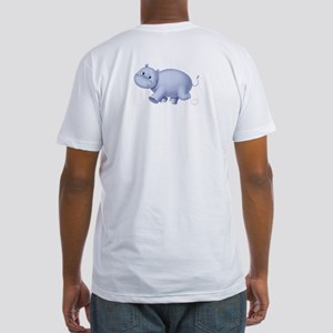 Indigo Hippo Fitted T-Shirt