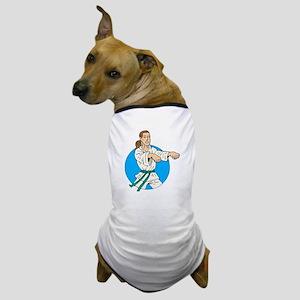 Green Belt Girl Dog T-Shirt