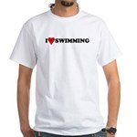 I Love Swimming White T-Shirt