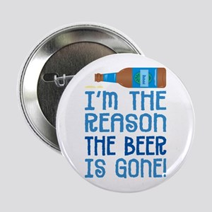 """Beer Gone - 2.25"""" Button"""