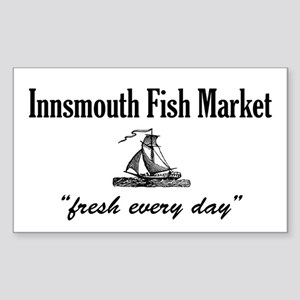Innsmouth Fish Market Rectangle Sticker