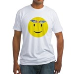 Swimmer Smiley Fitted T-Shirt