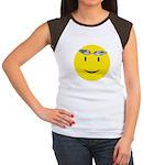 Swimmer Smiley Women's Cap Sleeve T-Shirt