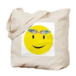 Swimmer Smiley Tote Bag