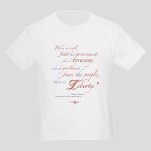 Fear or Liberty Kids Light T-Shirt