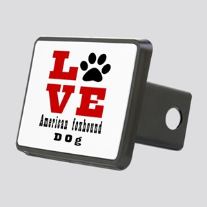 Love American foxhound Dog Rectangular Hitch Cover