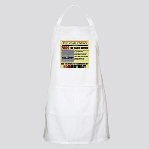 65 birthday BBQ Apron